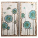 Crestview Collection Prints and Paintings Blooming Buds Canvas - Item Number: CVBWF285