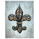 Crestview Collection Prints and Paintings Fleur De Lis - Item Number: CVTOP1802