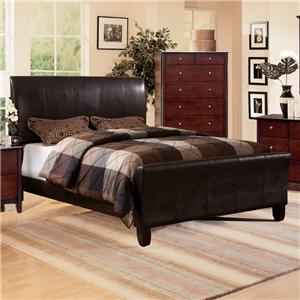 Crown Mark Tomas Queen Faux Leather Upholstered Bed