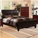 Crown Mark Tomas Queen Upholstered Bed - Item Number: B6275-Q-HBFB+RAIL