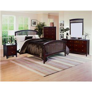 Crown Mark Lawson  Four Piece Bedroom