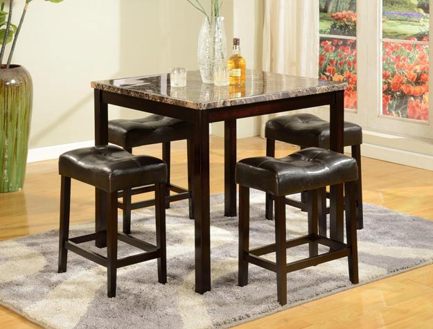 Crown Mark Crown Mark 5-Piece Counter Height Table Set - Item Number: 2773
