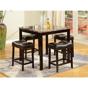 Crown Mark Crown Mark 5-Piece Counter Height Table Set