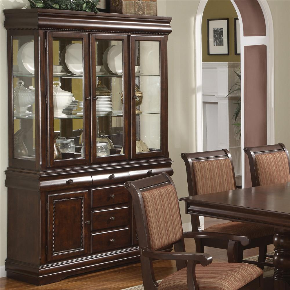 Dining Room Cabinets Ideas: Crown Mark Louis Phillipe Buffet And Hutch With Three