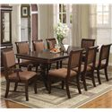 Crown Mark Merlot 9 Piece Table & Chair Set - Item Number: 2145T-L+TOP+2x46A+6x46S