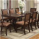 Crown Mark Merlot Dining Table - Item Number: 2145T-LEG+TOP