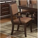 Crown Mark Merlot Dining Arm Chair - Item Number: 2146A