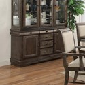 Crown Mark Merlot Buffet with Six Drawers - Hutch Solid Separately