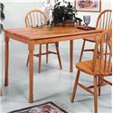 Crown Mark Farmhouse Rectangular Dining Table - Item Number: 2302L.OAK