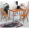 Crown Mark Farmhouse Rectangular Dining Table with Turned Legs - Shown with Side Chairs