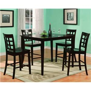 Crown Mark Austin 5 Piece Counter Table & Chair Set