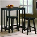Crown Mark Dina 3 Piece Counter Height Table & Stool Set - Item Number: 2779SET