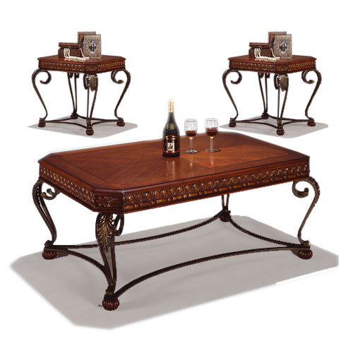 Crown Mark Clairmont 3 Piece Accent Table Group - Item Number: 4211-01+2x02