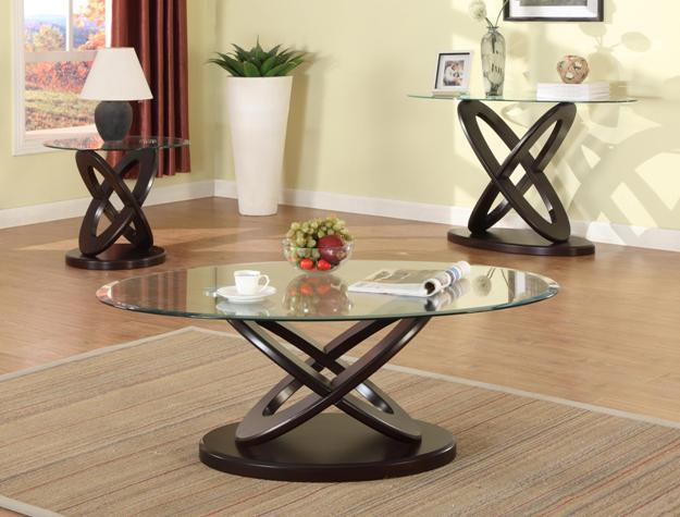 Crown Mark Cyclone Glass Cocktail Table - Item Number: 4235-01