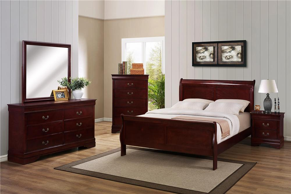 CM B3800 Louis Phillipe 4 pc Queen Bedroom Set - Item Number: B3800 Queen Bedroom 2
