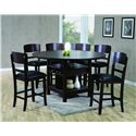 CM Conner  5 Piece Counter Height Dining Set - Item Number: 2849T-6060-Leg+TOP+4x2849S-24
