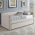 Crown Mark 5335 Ivory Daybed - Item Number: 5335IV-ARM+BACK