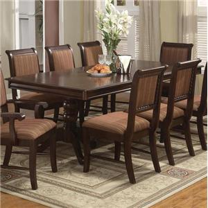 Crown Mark Merlot Seven Piece Dining Set