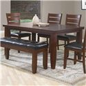 Crown Mark Bardstown 5 Piece Dining Set with Four Side Chairs - Item Number: 2157T-4266+4xS