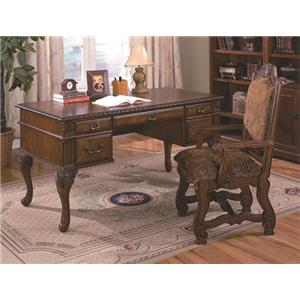 Crown Mark Neo Renaissance Home Office Desk