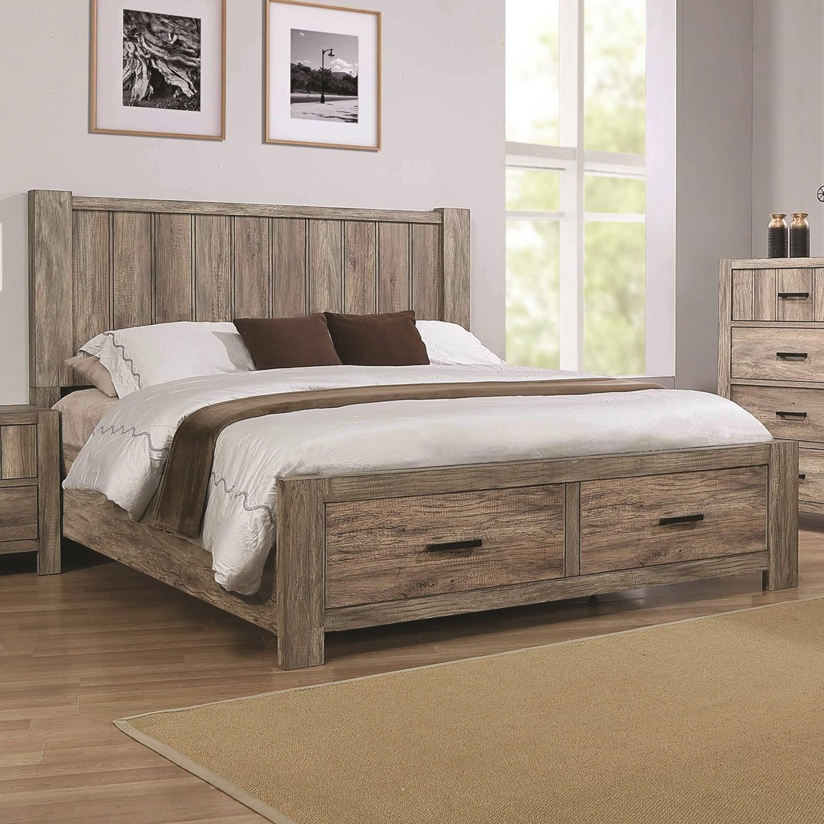 Abbot King Storage Bed by Crown Mark at Corner Furniture