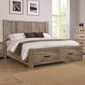 Crown Mark Abbot King Storage Bed - Item Number: B8295-K-HB+KQ-RAIL+K-FBD