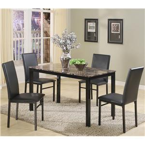 Crown Mark Aiden 5 Piece Dining Set