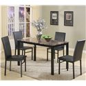 Crown Mark Aiden 5 Piece Dining Set - Item Number: 1217Set