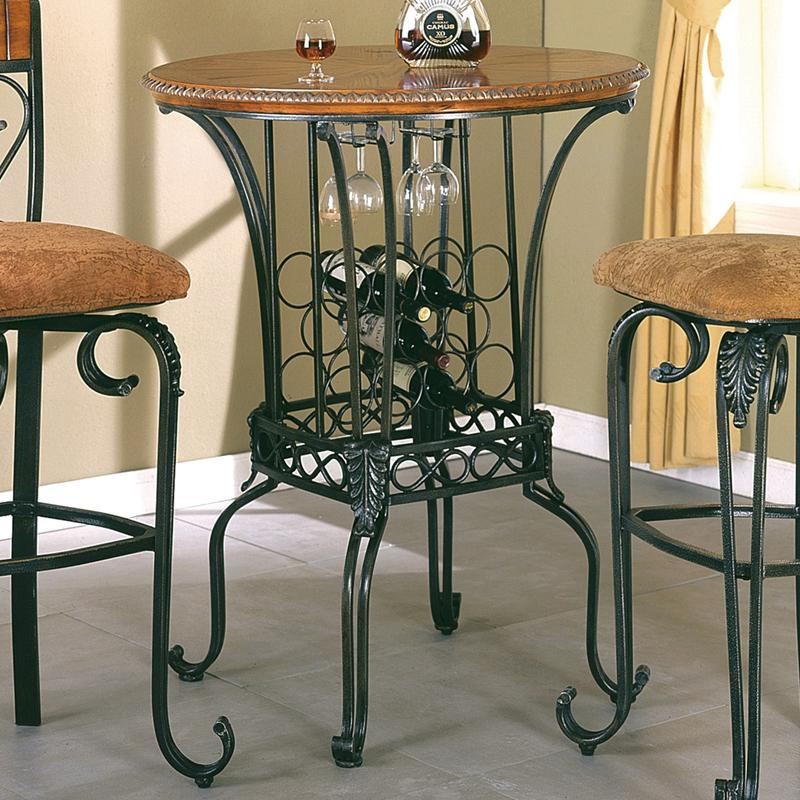 Crown Mark Alyssa Bar Table 35 Quot Round With Wine Storage