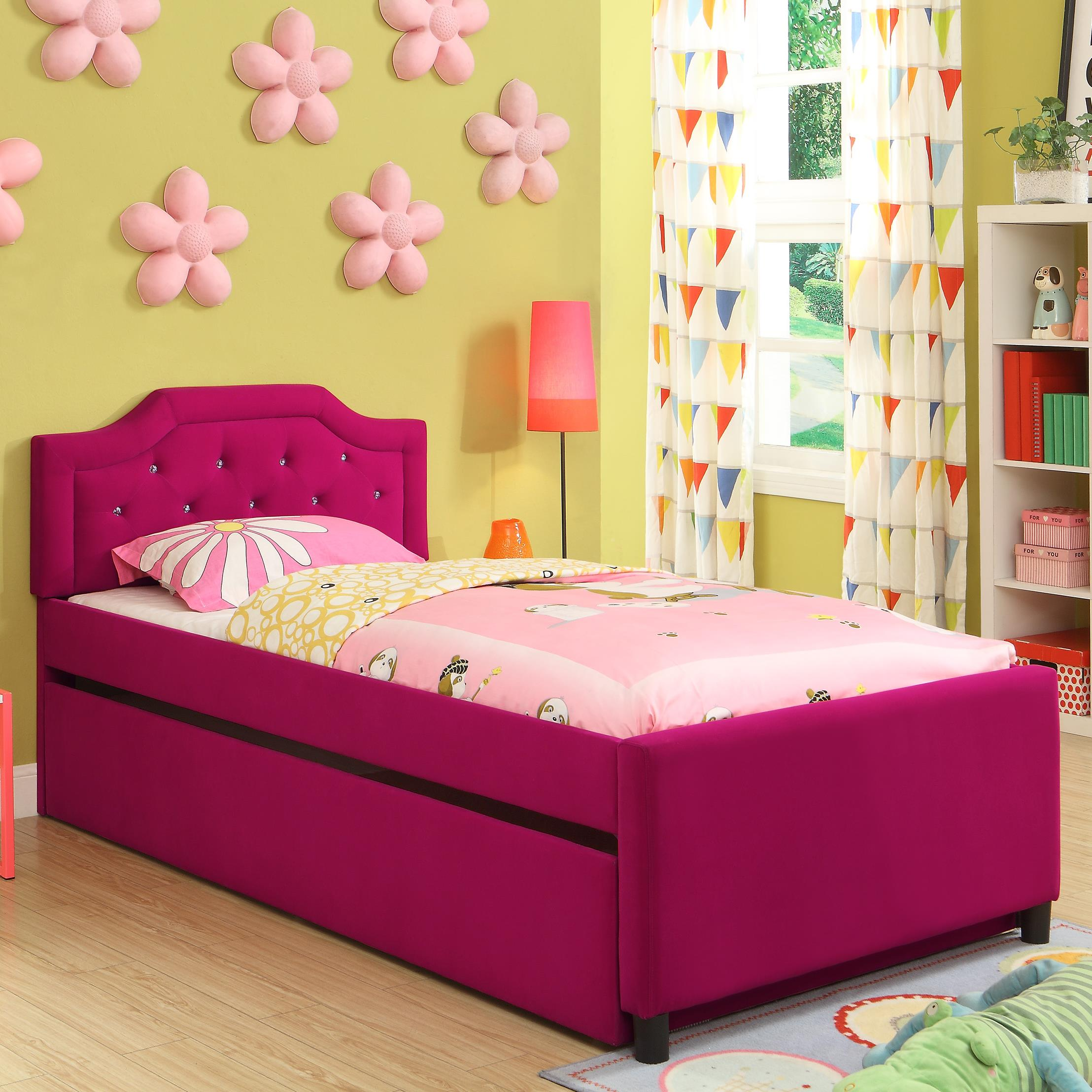 Crown Mark Amelia Twin Youth Trundle Bed - Item Number: 5019-T-HBFB+TRUNDLE