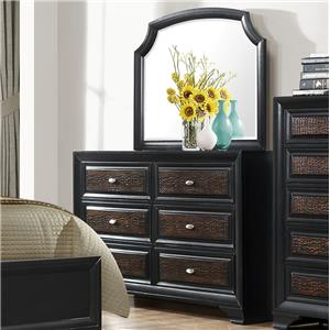 Crown Mark Andros Dresser and Mirror Set