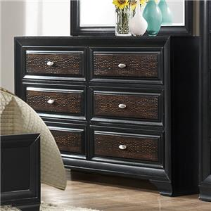 Crown Mark Andros 6 Drawer Dresser