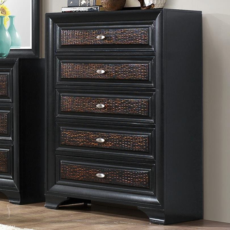 Crown Mark Andros 5 Drawer Chest - Item Number: B4300-4