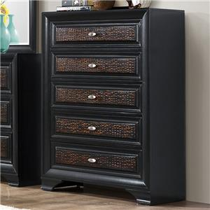 Crown Mark Andros 5 Drawer Chest