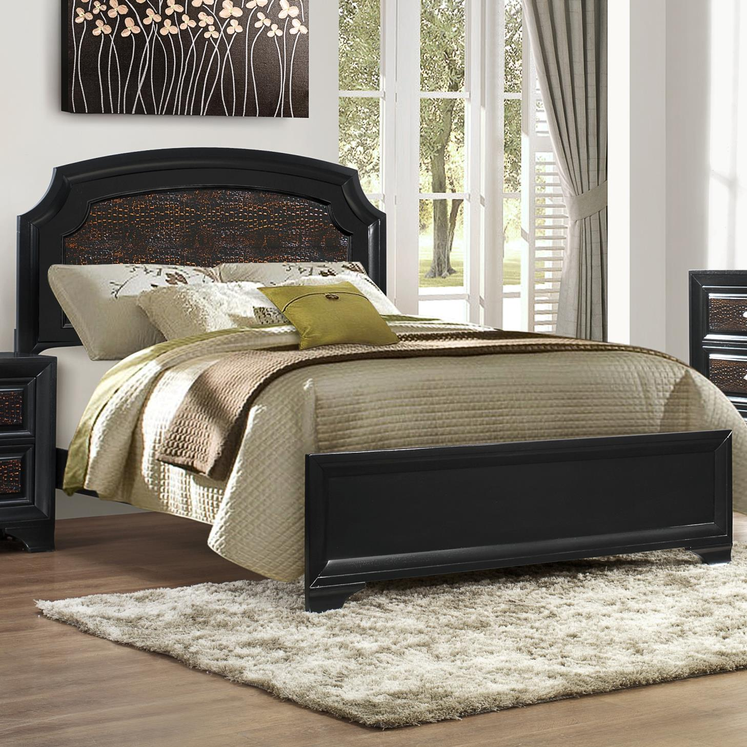 Crown Mark Andros Queen Bed - Item Number: B4300-Q-HBFB+KQ-RAIL