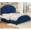 Crown Mark Annette Queen Upholstered Bed - Item Number: 5018NV-Q-HB+FB+KQ-RAIL