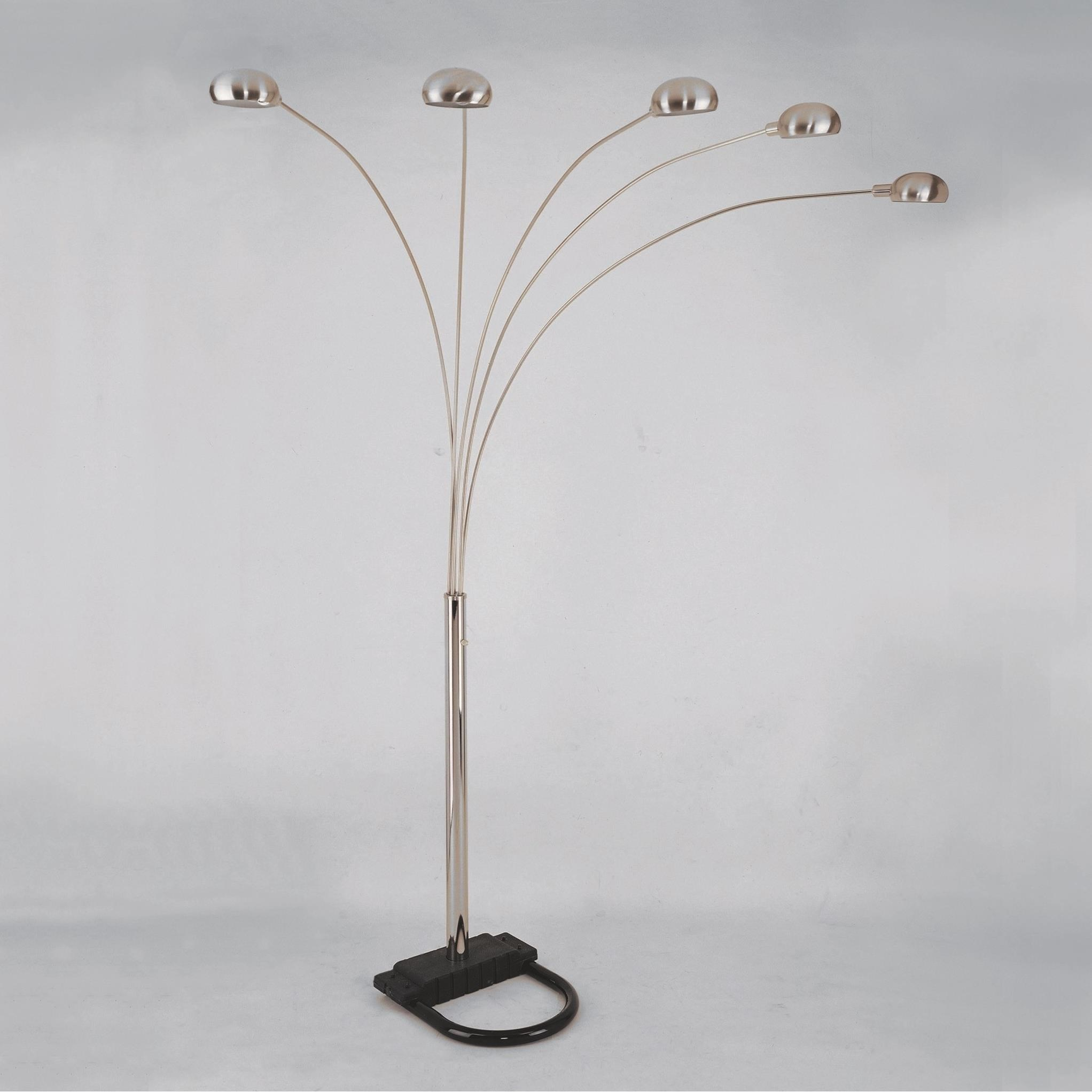 Crown Mark Arc Floor Lamp - Item Number: 4888-PEW-F