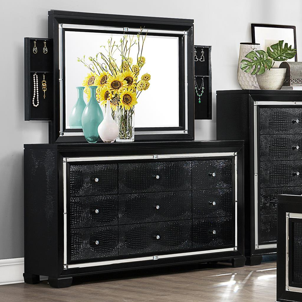 Crown Mark Aria Dresser and Mirror - Item Number: B7200-1+11