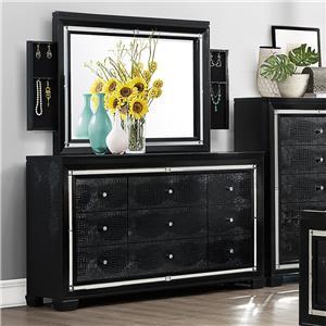 Crown Mark Aria Dresser and Mirror