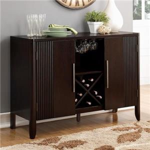 Crown Mark Ariana Espresso Side Board