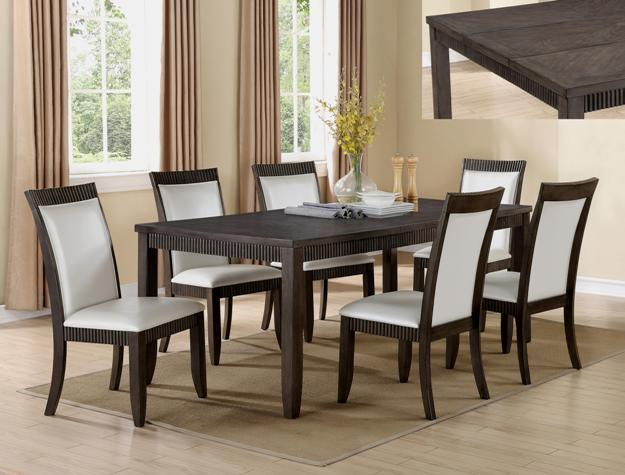 Crown Mark Ariana 7 Piece Table and Chair Set - Item Number: 2368T-4278+6xS