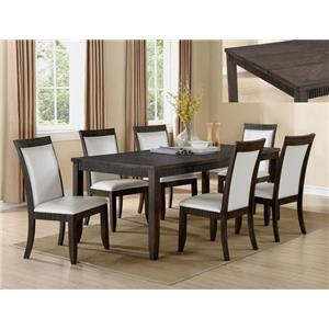 Crown Mark Ariana 7 Piece Table and Chair Set