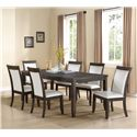 Crown Mark Ariana Rectangular Dining Table with One 18