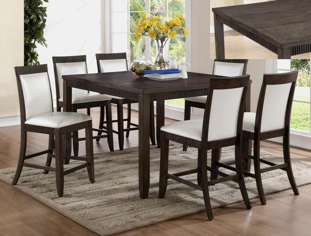 Crown Mark Ariana 7 Piece Counter Height Set - Item Number: 2768T-5454+6xS-24