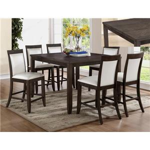 Crown Mark Ariana 7 Piece Counter Height Set