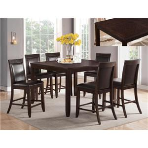 Crown Mark Ariana Espresso 7 Piece Counter Height Set
