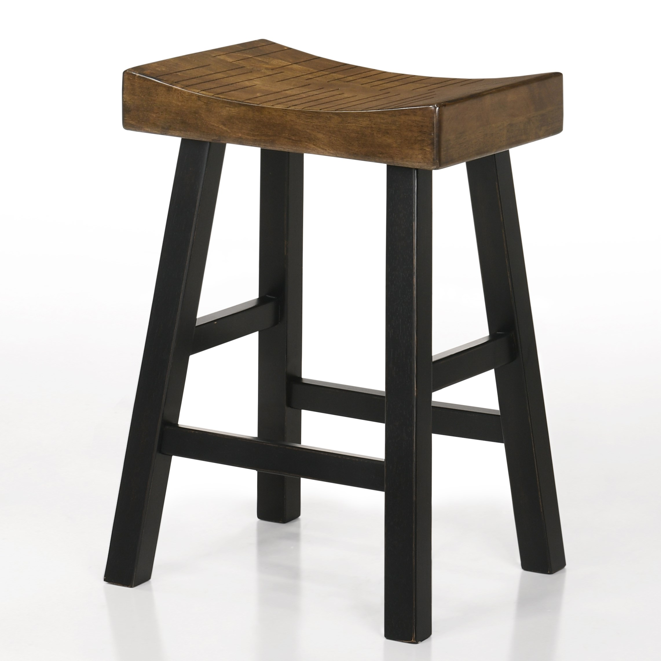 "Aruba 24"" Saddle Stool by Crown Mark at Northeast Factory Direct"