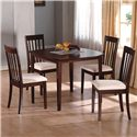 Crown Mark Ashland Square Kitchen Leg Table - Shown with Coordinating Side Chairs