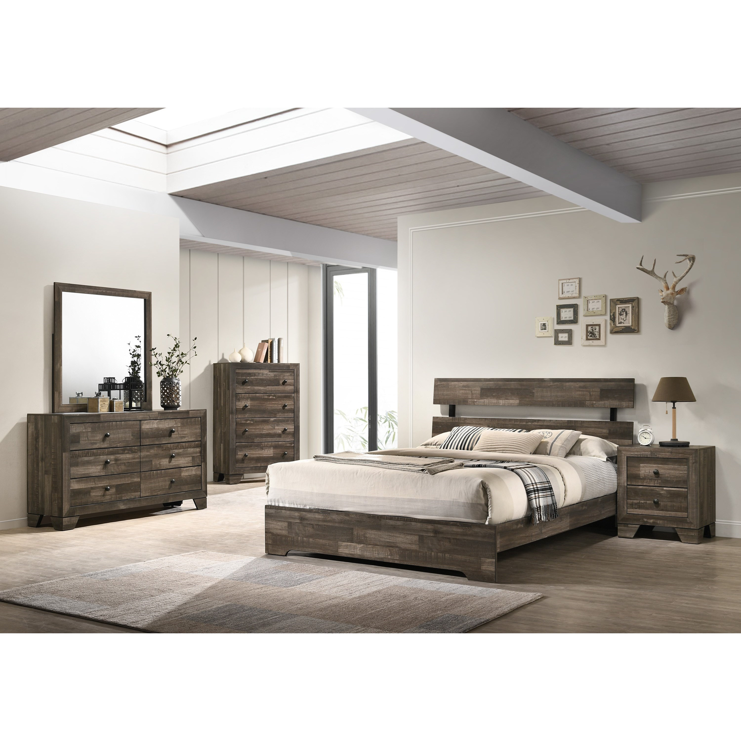 Atticus King Bedroom Group by Crown Mark at Darvin Furniture