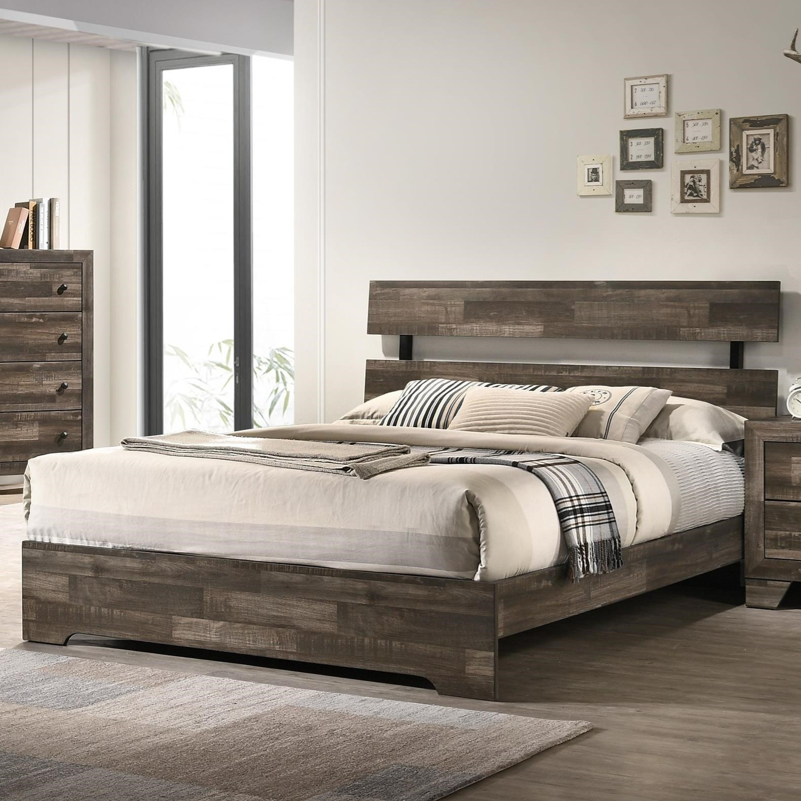 Atticus Twin Bed by Crown Mark at Darvin Furniture